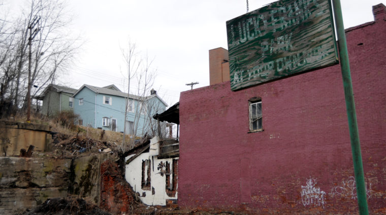 Photo of Braddock, PA, demonstrating how racism impacts our environments.